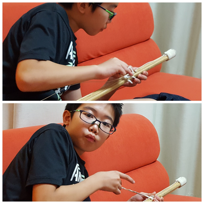 竹刀の組み換え